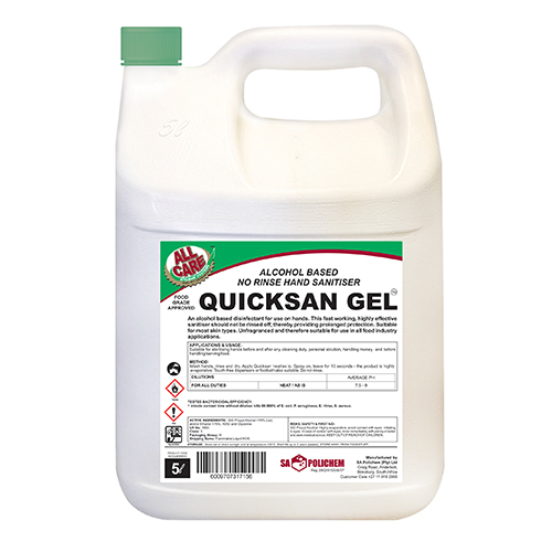 Quicksan Gel Hand Sanitiser Gel